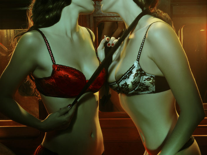 agent provocateur girls kiss tim bret day website print sales